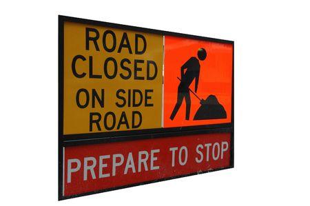 closure: Road Closure Stock Photo