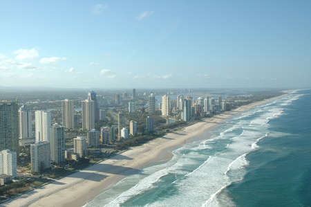 birdeye: Coastline of Surfer Paradise Stock Photo