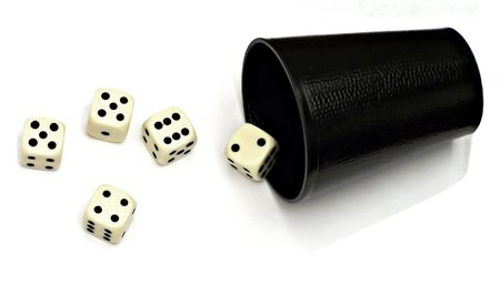 six sided dice Stock Photo