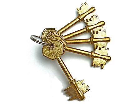 keys isolated on white Stock Photo