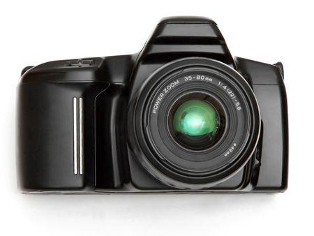 digicam: black SLR camera
