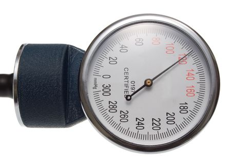 Medical Perssure Gauge. Part of any standard sphygmomanometer. Isolated on White. photo