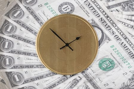 depicting: Image depicting the concept Time Is Money - USA version Stock Photo