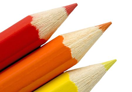 skoal: Red, Orange and Yellow Pencil Tips.