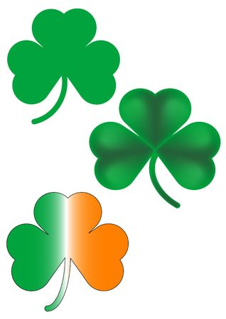 A set of three different shamrock designs. Stock Photo - 255031