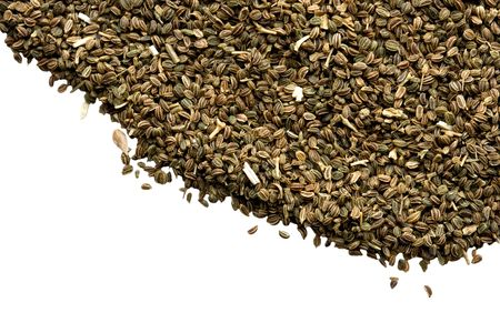 desired: Celery seeds with a white area to add desired text.