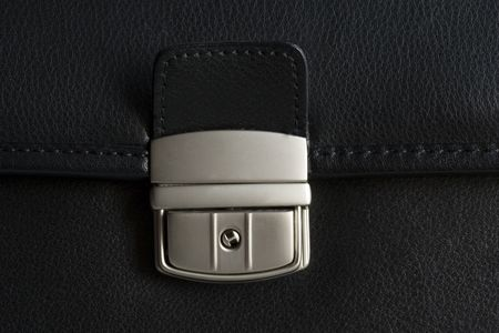 buckle: Leather briefcase buckle.