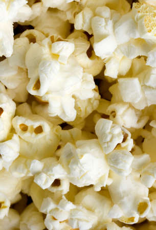 airy texture: Close up image of Popcorn