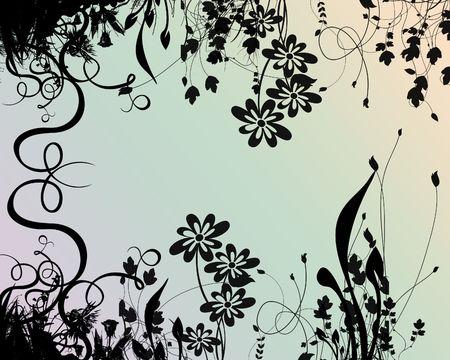 gramineas: Una silueta de gram�neas