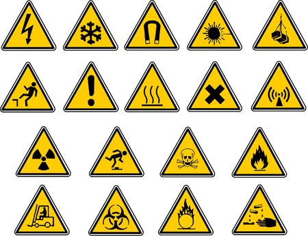 Safety signs for your vector work. photo