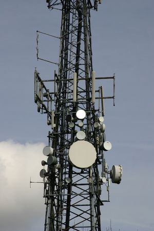 Communications Mast Stock Photo