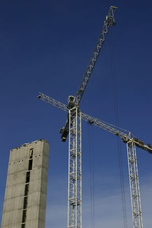 A Tower Crane On A Construction Site