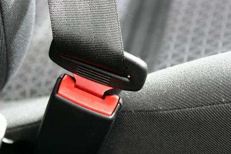 A Car Seat Belt Restraint