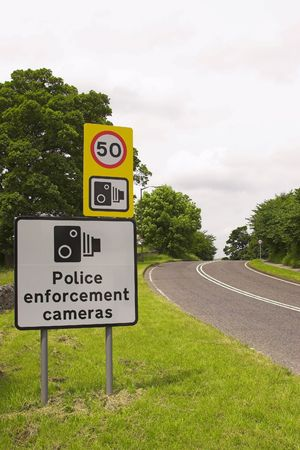 policing: A Roadside Speed Restriction Sign