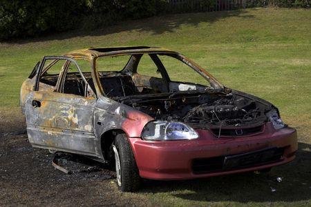 Fire Damaged Car
