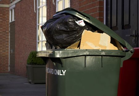 Waste Recycling Container Stock Photo