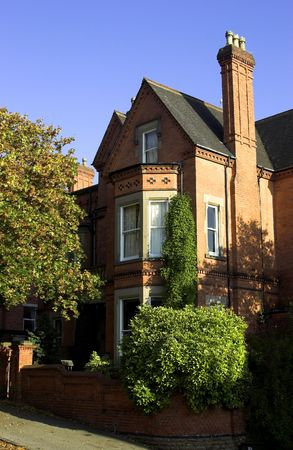 residency: Victorian House In An English City Stock Photo