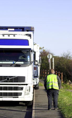 Truck Driver Stock Photo
