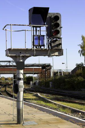 Railway Signal Gantry Stock Photo - 2060593