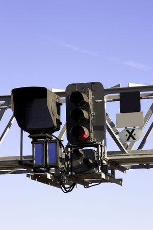 Railway Signal Gantry Stock Photo - 2060592