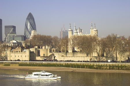 Tower of London and City of London financial district
