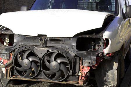 Accident Damaged Vehicle Stock Photo