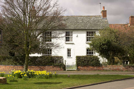 english village: A house in an English village Stock Photo