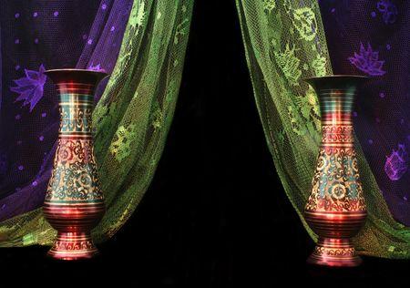 bufandas: Jarrones y pa�uelos de Oriente Medio  Foto de archivo