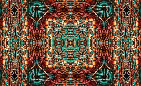 Native American Styled Abstract Backgrounds With Beads