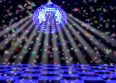 Disco Background, Shallow DOF Focus on Back of Floor