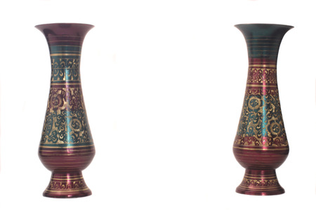 Vases From The Middle East Isolated on White Background