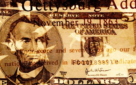 Grunge Style Background With American Currency Stock Photo - 1930773