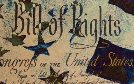 Grunge Style Background With Bill of Rights Stock Photo - 2020078