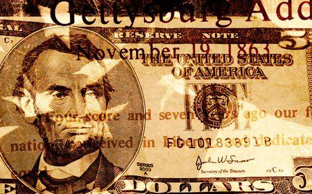 Grunge Style Background With Money Stock Photo - 2032140