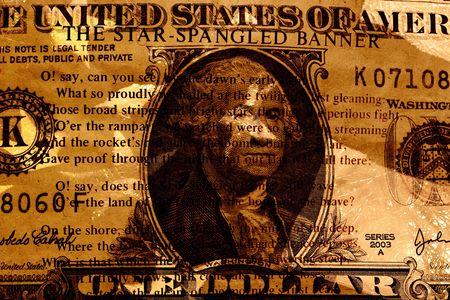 Grunge Style Background With Money Stock Photo - 2032141