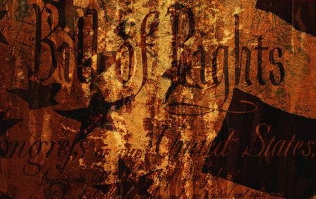 Grunge Style Background With Bill of Rights Stock Photo - 2020073