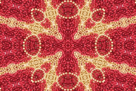 Red and Gold Abstract Beaded Cross Background  photo