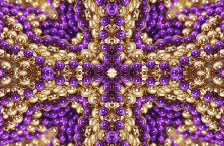 Abstract Background from Gold and Purple Beads photo