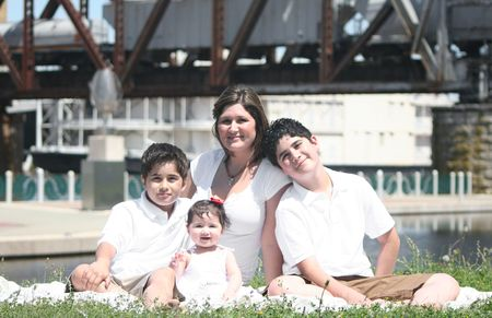Young Hispanic Family, Afternoon in the Park
