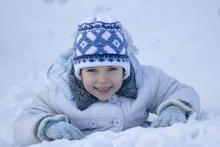 girl on a snow Stock Photo - 622692