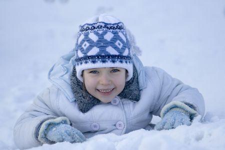 girl on a snow Stock Photo - 622692