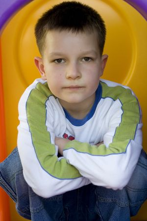 boy on a playground Stock Photo - 627231