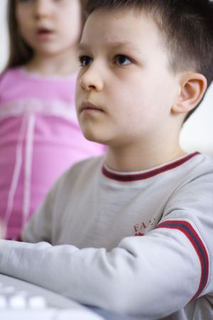 boy inside computer Stock Photo - 630059