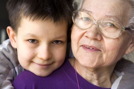 boy with grandmother
