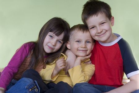 sister with brothers Stock Photo - 629813