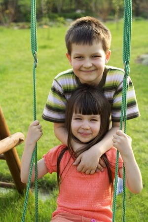 Children on swing Stock Photo - 657756