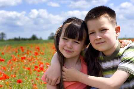 Sister and brother Stock Photo - 695928