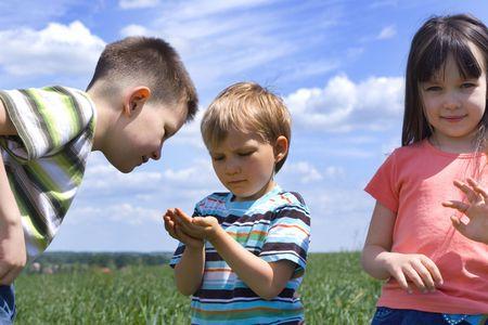 Children on meadow Stock Photo - 695914
