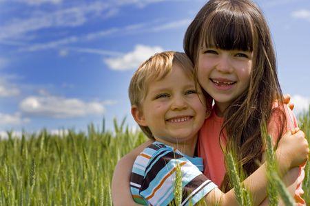 children in cereal Stock Photo - 695850