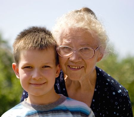 Boy with grandma Stock Photo - 714390